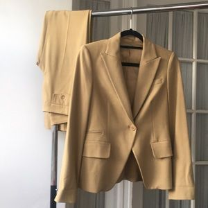 Of Benetton Tan Blazer + Pant